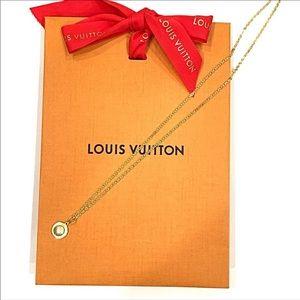 """Repurpose Louis Vuitton Rivet Necklace 10.5"""" Drop"""
